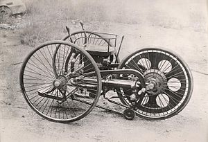 History of the motorcycle - Butler's Patent Velocycle