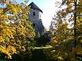 Cēsis Castle west tower in autumn 2014.jpg