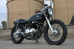 Custom motorcycle - 1977 Honda CB550 built by Lossa Engineering.