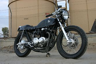 Custom motorcycle - 1977 Honda CB550 built by Lossa Engineering.