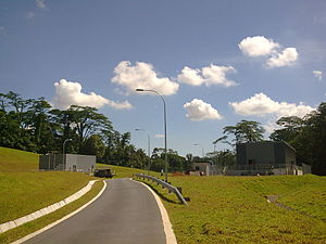 Circle MRT Line - Bukit Brown Station, the only 'Shell Station'