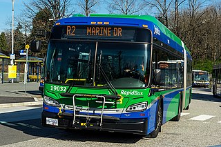 R2 Marine Dr Express bus service in Metro Vancouver, Canada