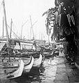 COLLECTIE TROPENMUSEUM De vissersvloot bij de vismarkt (passar ikan) te Batavia Java TMnr 10010668.jpg