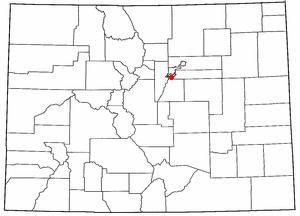 Southglenn, Colorado - Location of Southglenn, Colorado