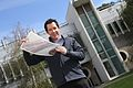 CSIRO ScienceImage 1502 Dr Scott Watkins holding a sheet of flexible solar cells.jpg