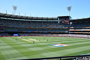 2015 Cricket World Cup - The second match of the Cricket World Cup at the MCG between Australia and England