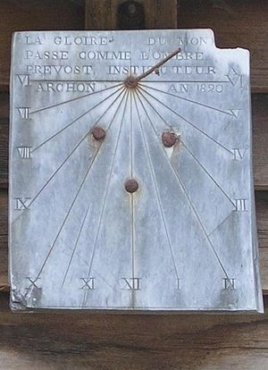 Archon, Aisne - The 1820 Sundial of Archon