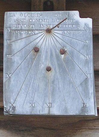 Archon, Aisne - The 1820 Sundial of Archon