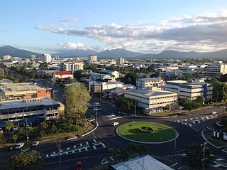Cairns City in Queensland, Australia