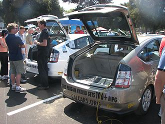 Plug-in electric vehicle - Several Prius+ converted plug-in hybrids.