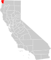 California county map (Del Norte County highlighted).svg
