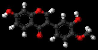 Calycosin - Image: Calycosin 3D balls