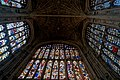 Cambridge - King's College Chapel 1446-1544 - Antechapel - View West & Up on Fan Vaults, Stained Glass & Tudor Roses I.jpg