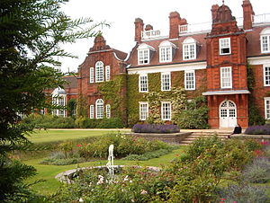 Newnham College, Cambridge - Sidgwick Hall and the Sunken Garden.