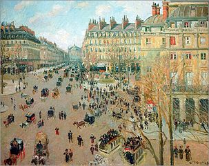 Place du Théâtre-Français and Avenue de l'Opéra, Winter Effect of Sunlight