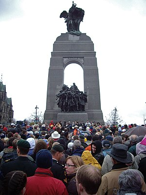 National War Memorial (Canada) - The memorial serves as the focal point of Remembrance Day ceremonies in Ottawa