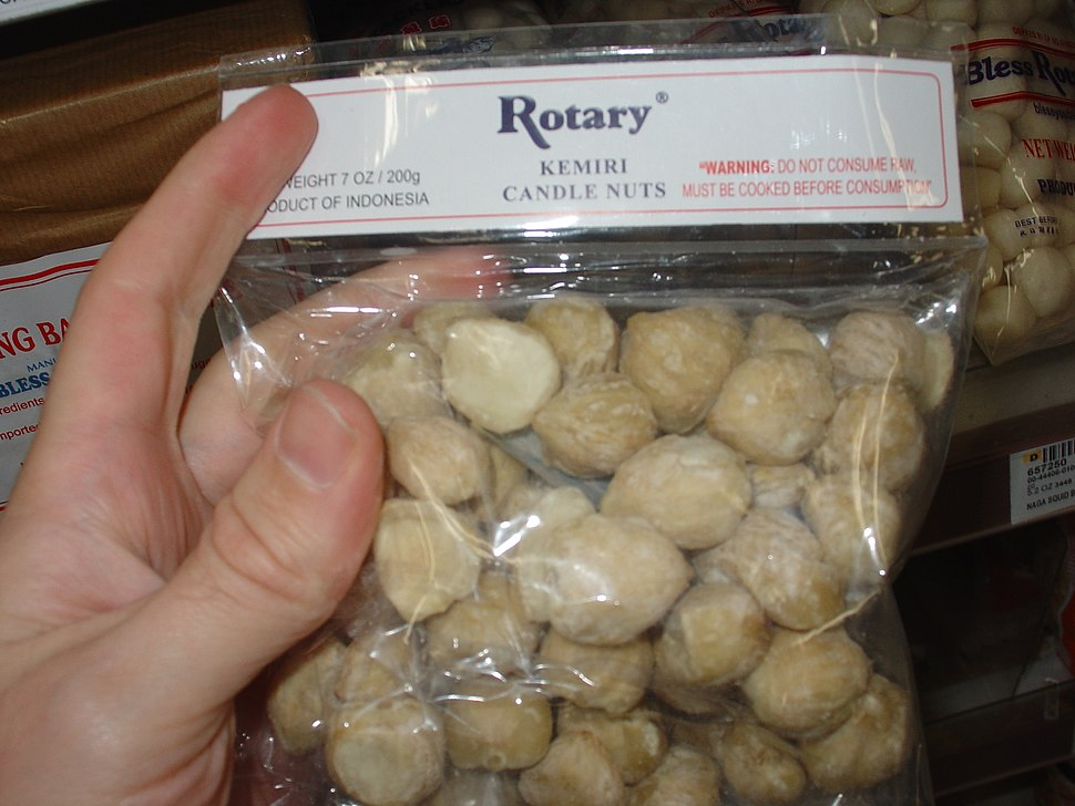 Candle nuts (kemiri)