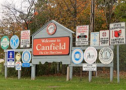 Canfield, Ohio.
