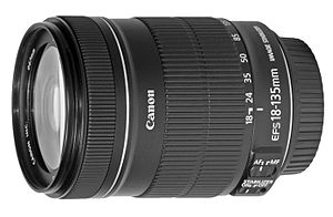 Digital single-lens reflex camera - Canon EF-S 18-135mm APS-C Zoom lens