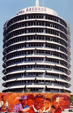 "Nat King Cole - The Capitol Records Building, known as ""The House That Nat Built"""