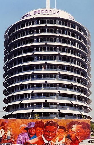 "Nat King Cole - Capitol Records Building, known as ""The House That Nat Built"""