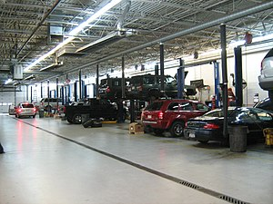 Car dealership - Auto dealer's service and repair facility