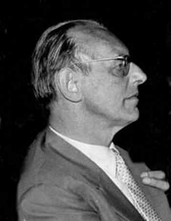 Carl Orff profile view