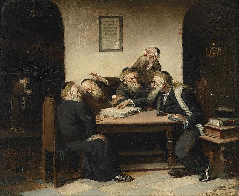 Carl Schleicher Eine Streitfrage aus dem Talmud (Carl Schleicher (fl. c. 1859 – after 1871))