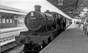 Carmarthen railway station - Stopping train from Swansea in 1962