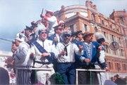 A choir singing in the Carnival of Cádiz