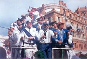 Carnival of Cádiz - A choir singing at the Carnival of Cádiz