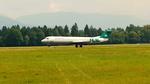 Carpatair Fokker 100 landing at Ljubljana Airport.png
