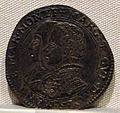 Casale monferrato, margherita paleologo e gugliemo gonzaga duca, argento, 1550-1566.JPG