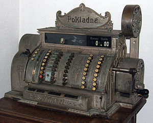 Cash register - National Cash Register expressly built for a merchant in Nové Město nad Metují, Austro-Hungary, 1904