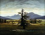 Caspar David Friedrich - Village Landscape in Morning Light (The Lone Tree) - WGA8265.jpg