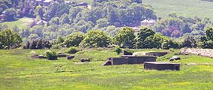 Castle Hill, Huddersfield - Remains of a Second World War Anti-Aircraft battery at Castle Hill
