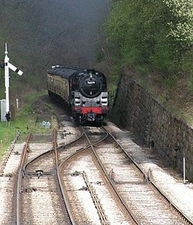 Catch points railroad switch, which ensures a driveway in front of other train movements