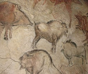 Cave painting from the cave of Altamira in The...