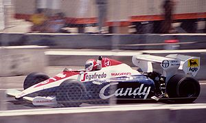 Johnny Cecotto - Cecotto at the 1984 Dallas Grand Prix, his last Formula One start.