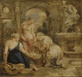 Cecrops' Daughters Finding Erichtonius. Sketch (Peter Paul Rubens) - Nationalmuseum - 17610.tif