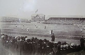 Celtic Park - Celtic Park in the 1890s. This picture shows the pavilion and adjacent stand.
