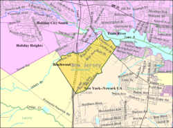 Census Bureau map of Beachwood, New Jersey