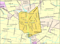 Census Bureau map of Bridgeton, New Jersey