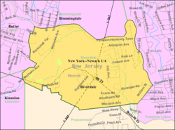 Census Bureau map of Riverdale, New Jersey