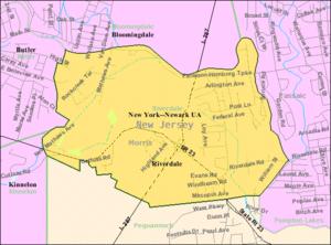 Riverdale, New Jersey - Image: Census Bureau map of Riverdale, New Jersey