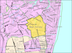 Census Bureau Map Of West Long Branch New Jersey