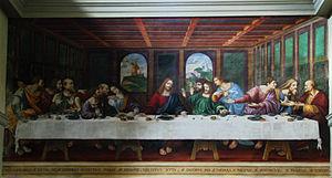 Ponte Capriasca - The Last Supper by Cesare da Sesto (a pupil of Leonardo da Vinci) in the Church of S. Ambrogio