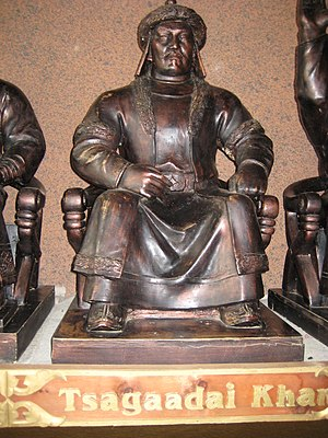 Chagatai Khan - Statue of Chagatai Khan in Mongolia