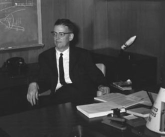 Jim Chamberlin - Jim Chamberlin in the Gemini Project Manager's Office, Houston, 1962