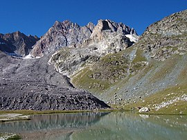 Aiguille de Chambeyron from Lake Marinet